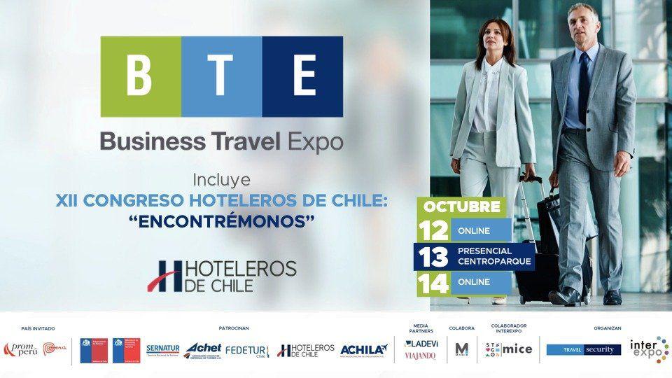 BTE recibirá el XII Congreso Hoteleros de Chile.